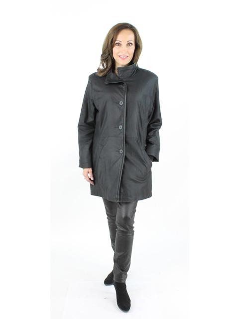 Peat Noir Leather Stroller