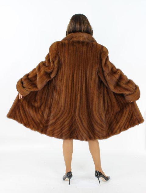 Mink Fur Stroller w/ Directional Fur at Hem