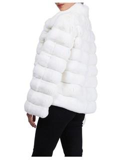 Gorski Woman's White Chinchilla Fur Jacket