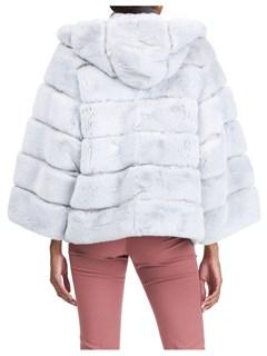 Gorski Woman's Ice Gray Rex Rabbit Fur Parka