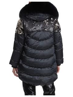 Gorski Woman's Black Apres-Ski Jacket with Detachable Fox Fur Hood