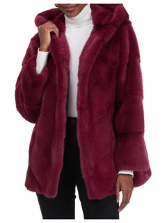 Gorski Woman's Raspberry Mink Fur Jacket