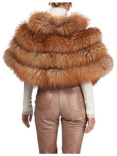 Gorski Woman's Gold Silver Fox Fur Stole