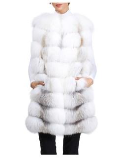 Gorski Woman's Fawn Natural Fox Fur Vest