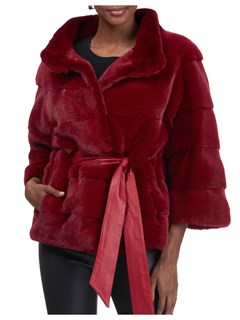 Gorski Woman's Red Mink Fur Jacket