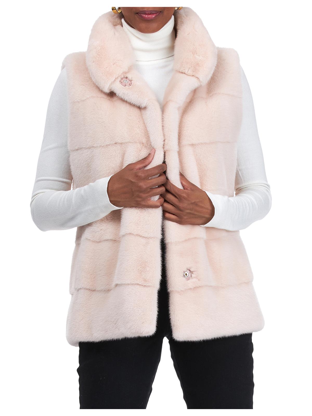 Gorski Woman's Blush Mink Fur Vest