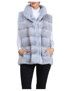 Gorski Woman's Sky-Cross Mink Fur Vest