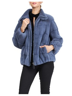 Gorski Woman's Blue Mink Fur Jacket