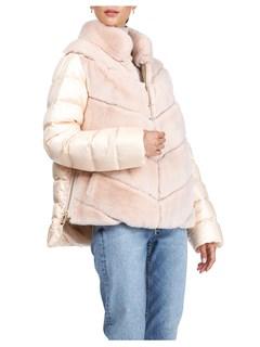 Gorski Woman's Blush Rex Rabbit Fur Jacket