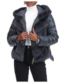 Gorski Woman's Gray Rex Rabbit Jacket