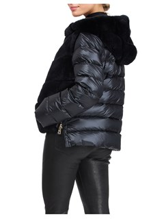 Gorski Woman's Black Rex Rabbit Jacket