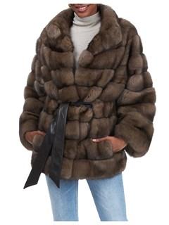Gorski Woman's Brown Sable Fur Jacket