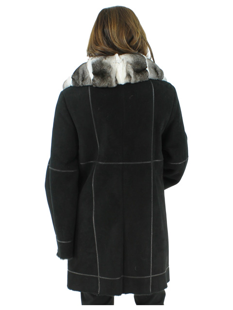 Shearling Coat w/ Orelag Portrait Collar