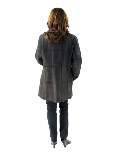 Snow Top Trimmed Shearling Jacket