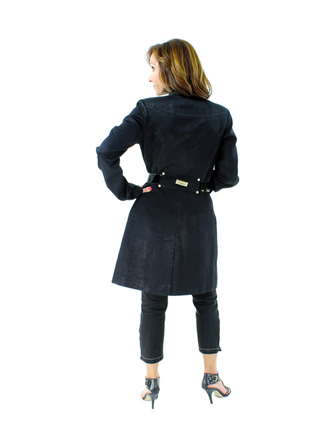 Italian Fabric Stroller w/ Zipper Detail