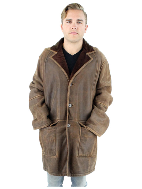 Man's Marrone Shearling Lamb Jacket