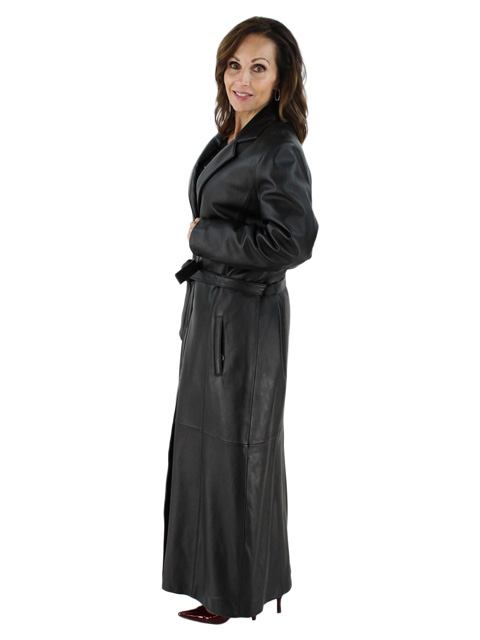 Perfect for Chicago Wind and Weather Full Length Belted Black ...