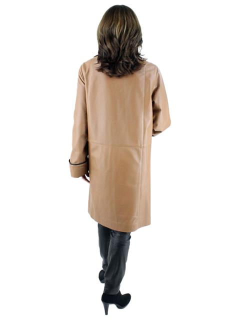 Leather & Taffeta Reversible Stroller