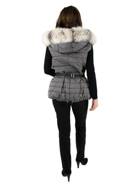 Cloth & Fox Fur Vest