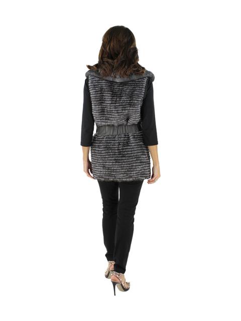Mink Fur Vest w/ Matching Leather Belt
