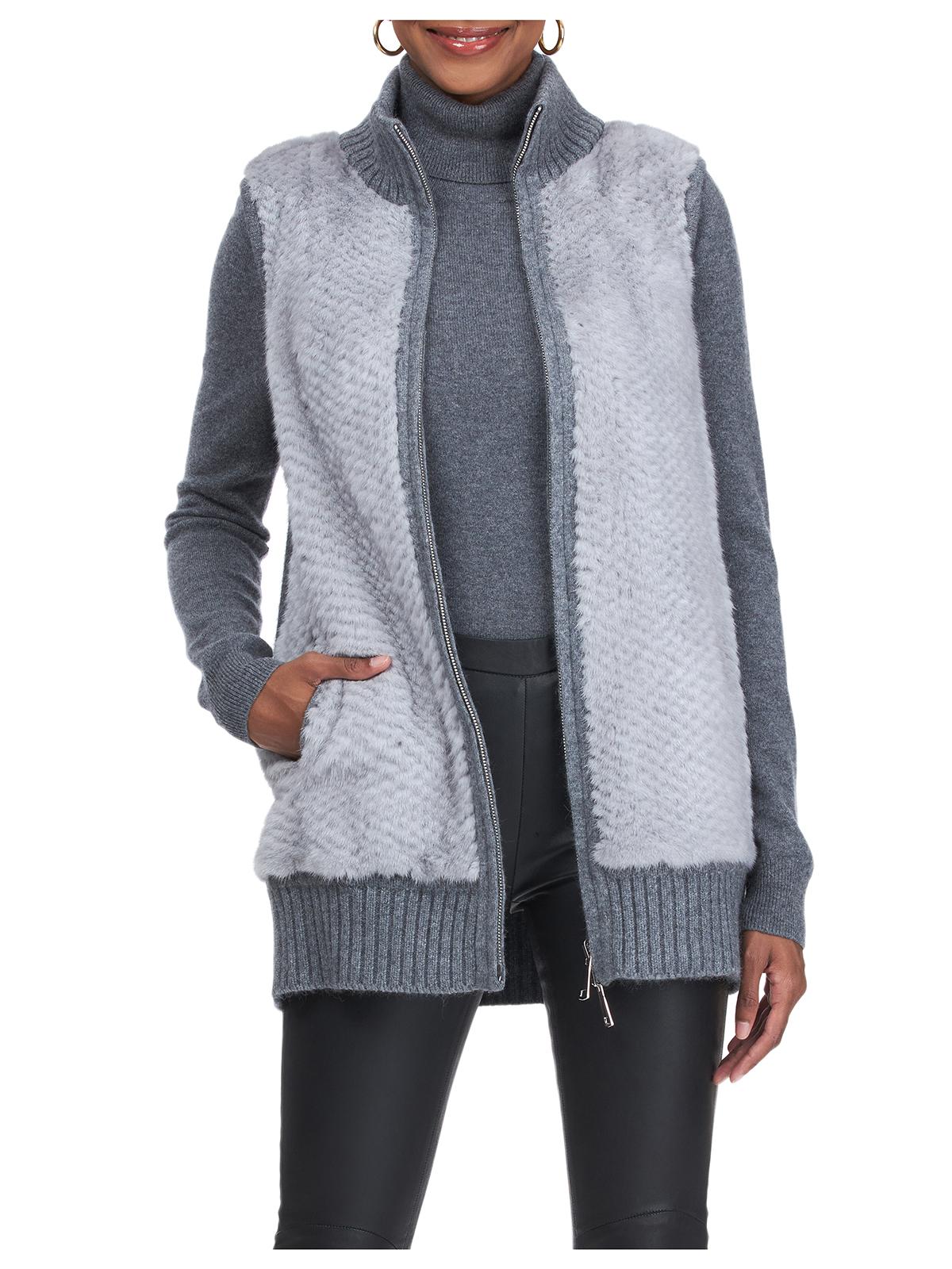 Gorski Woman's Blue-Iris Mink Fur Vest