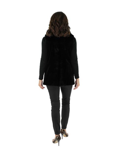 Mink Fur Vest w/ Mink Front Back