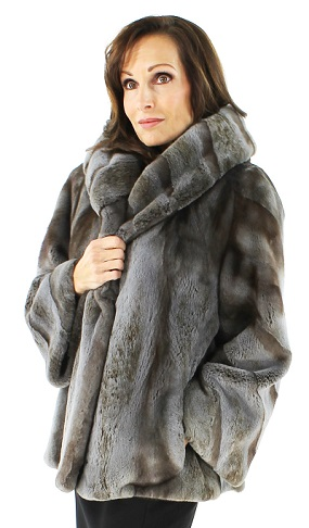 Semi Sheared Mink Fur Parka