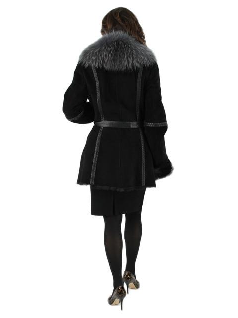 Goat Fur Suede Jacket w/ Finn Raccoon Collar