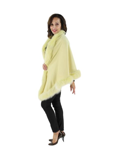 Cashmere Wrap w/ Snowtop Fox Fur Trim