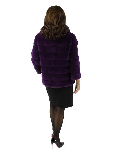 Mink Fur Jacket w/ Matching Chinchilla Collar