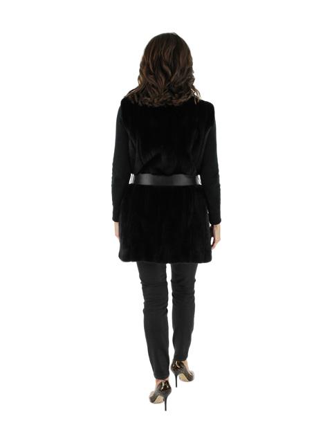 Belted Mink Fur Vest