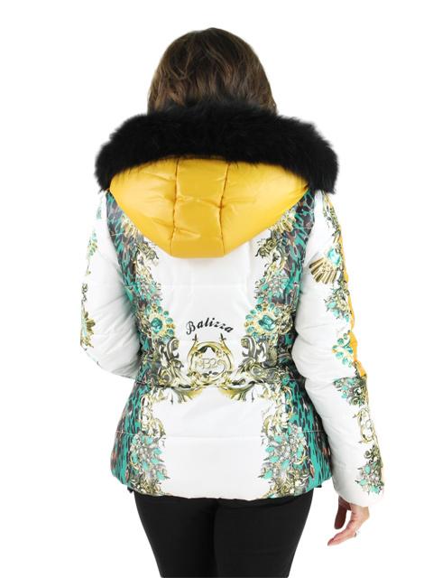 Fabric w/ Fox Fur Jacket