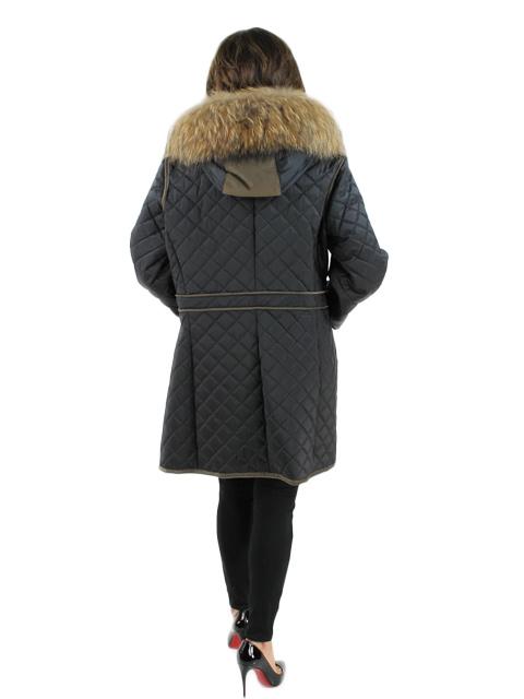 Fabric Jacket w/ Finn Raccoon Fur