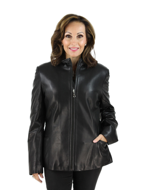 Woman's Black Leather Jacket