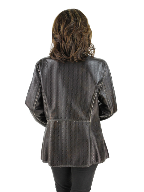 Leather Knit Jacket