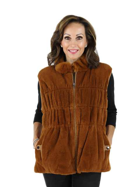 Rabbit Fur Sweater Reversible to Leather