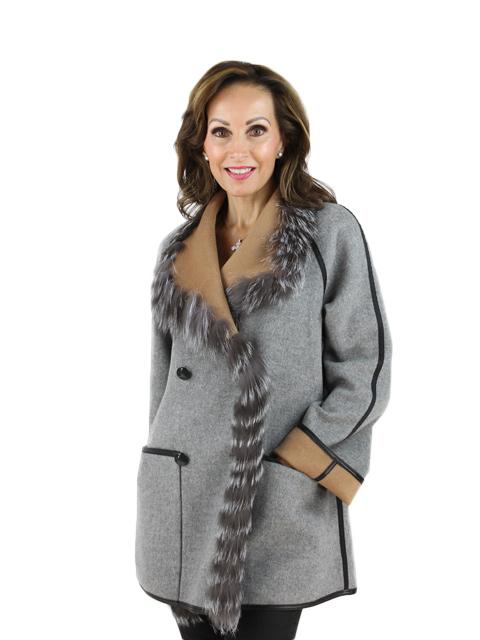 Cashmere w/ Fox Fur Jacket