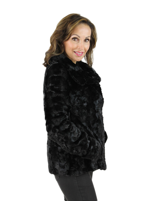 Sculpted Mink Fur Jacket