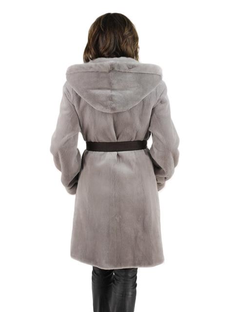 Taupe Sheared Mink Fur Stroller