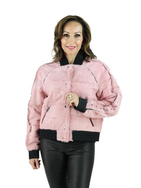 Dusty Pink Goat Jacket