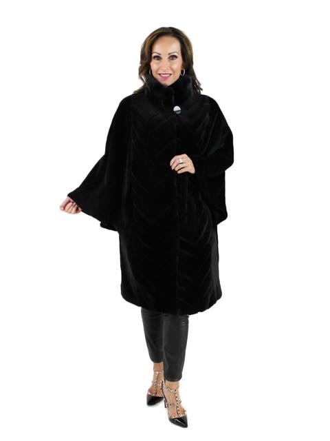 Black Mink Sheared Mink Short Coat