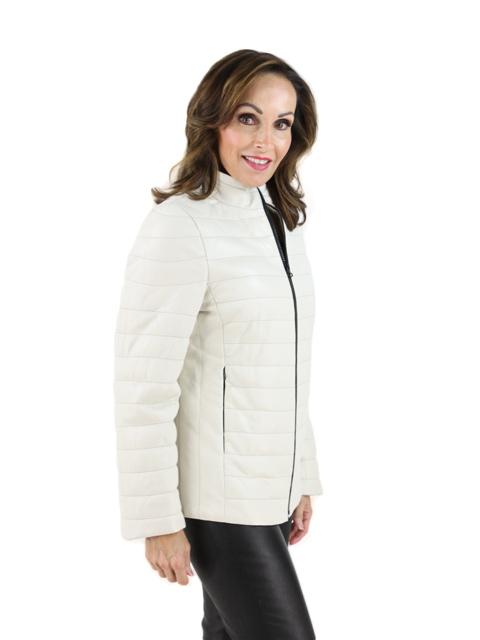 Ivory Leather Jacket