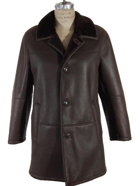 Dark Brown Shearling Jacket with Deeper Brown Ironed Fleece
