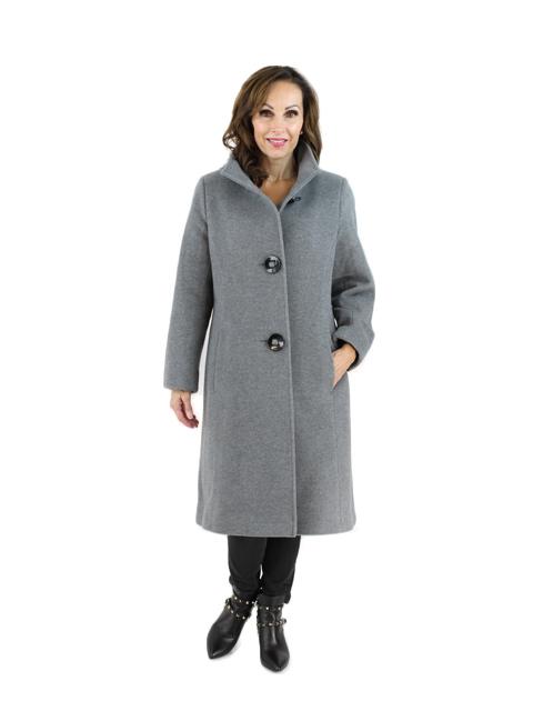 Medium Grey Cashmere Coat