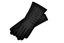 Black Leather Gloves Womens Size 7.5