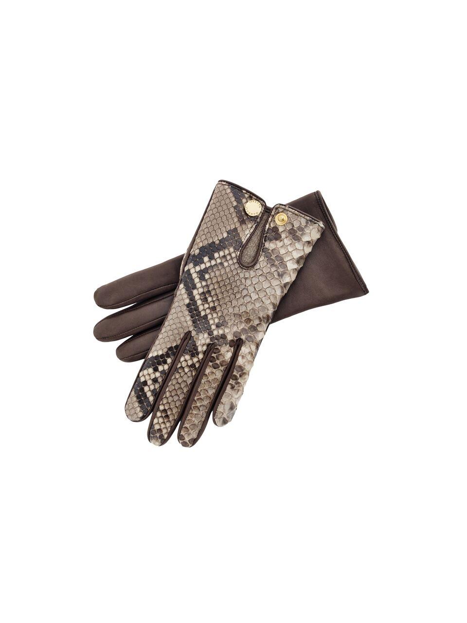 Pythone Leather Gloves Size 7.5
