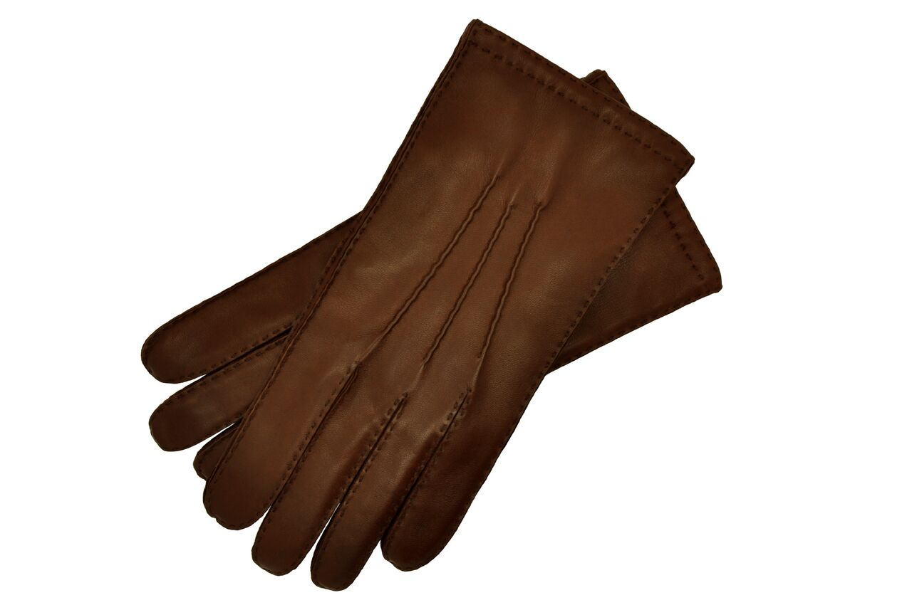 Brown Leather Gloves Mens Size 8