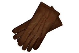 Brown Leather Gloves Mens Size 9.5