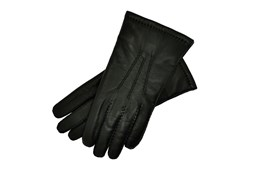 Black Leather Gloves Mens Size 8.5
