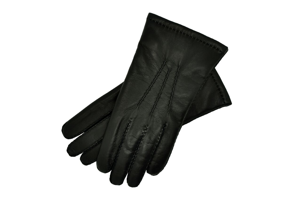 Black Leather Gloves Mens Size 9